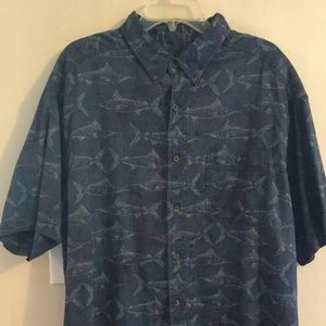 Woolrich John Rich & Bros 2XL Shark Design Shirt